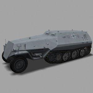 3d model sdkfz 250