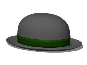 3d derby hat model