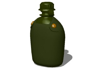 3d flask bottle