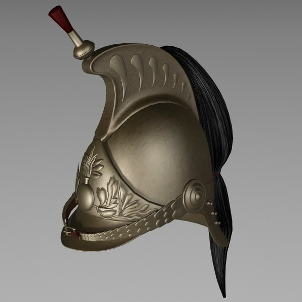 3d model dragoon helmet