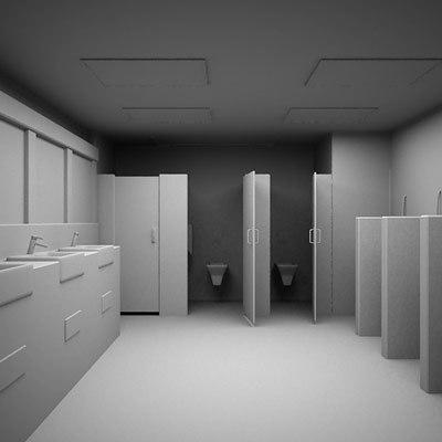 3d public toilet