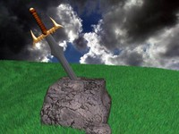 3d model excalibur sword