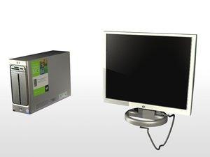 hp pavillion computer monitor 3d model