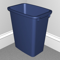 trash home office 3d model