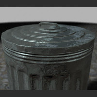 3d trashcan tin