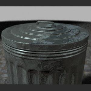 3d trashcan tin