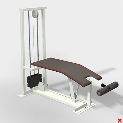 3d exercise bench model