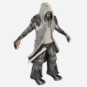 3d model wolf human
