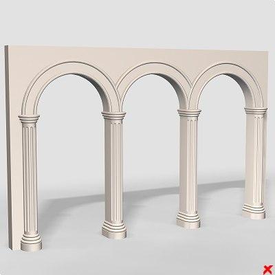 3d model arch column