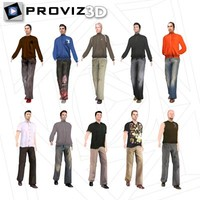 3ds max walking casual men