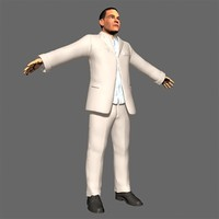 3ds max realistic man suit male character