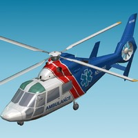 air ambulance dauphin 3d model