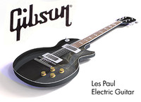 3d electric guitar - gibson les