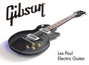 3d electric guitar - gibson les