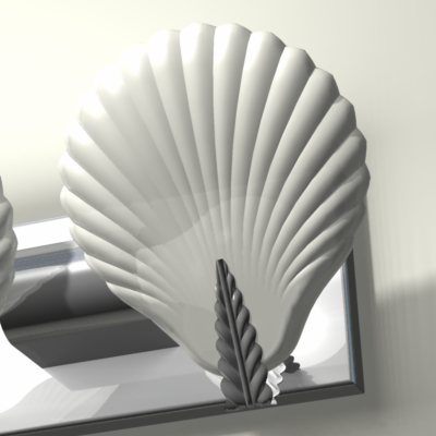 sea light fixture shell 3d model