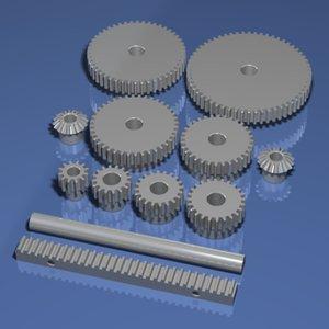 assorted gears 3d model