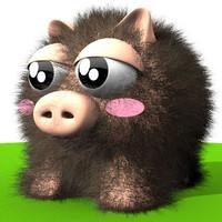 pig toy 3d model