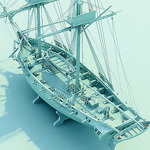 ship watercraft 3d max