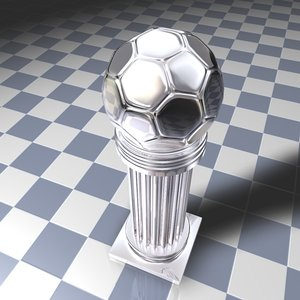 cinema4d silver football trophy