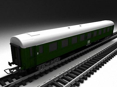 deutch bahn 2nd class 3d model