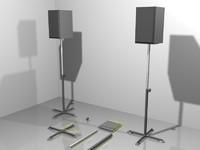 speakers 3d max
