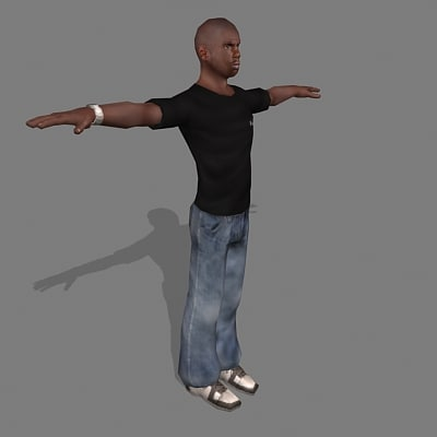 3d 3ds male civilian