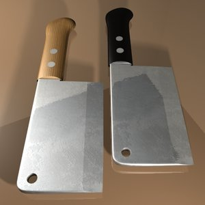 meat cleaver 3d max
