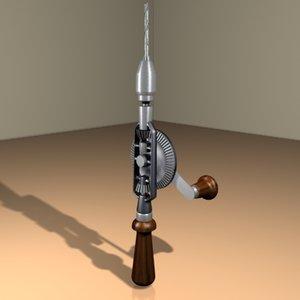 hand drill 3d model