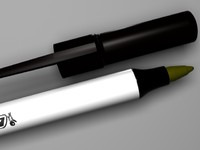 black pen 3d model