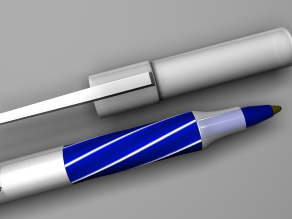 3ds max bic pen blue