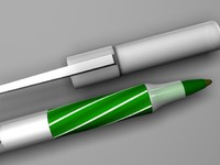 3d model bic pen green