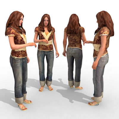 - casual female 3d model