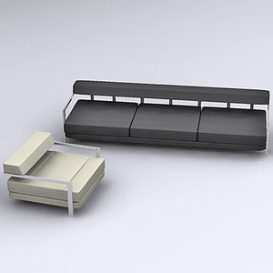 3d armchair couch model