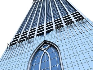 3d sky scraper buildings model