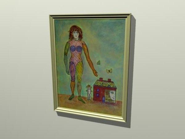 3d framed art