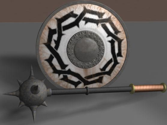 mace shield 3d model