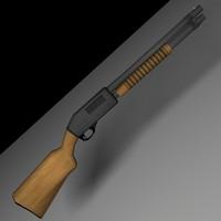 12 gauge shotgun 3d model