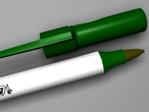 3ds max bic pen green