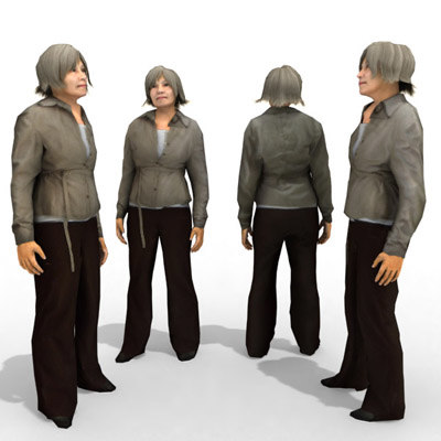 - casual female character 3d model