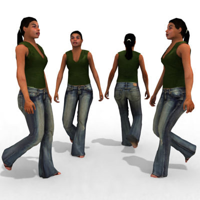 - casual female person 3d max