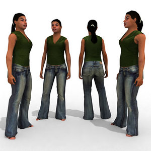 3d - casual female character