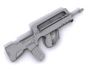 3d model famas g2 assult rifle