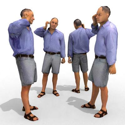 3d model - casual male person
