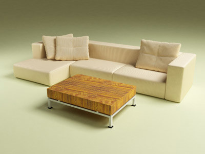3d corner couch coffee table model