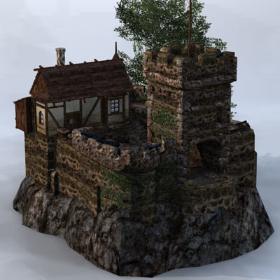 3d model fantasy building