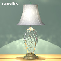 3d glass crystal table lamp