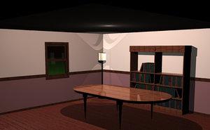scene book room animation max
