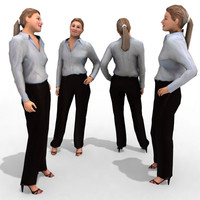 3d Model - Business Female #6a