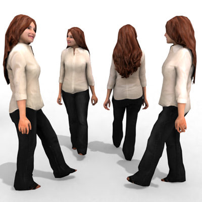 3d model - business female character