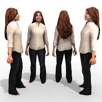 3d model of - business female character